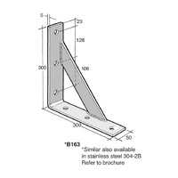 Bowmac Bracket B163 Angle (with Gusset)