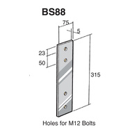 Bowmac Bracket BS88 Strap Stainless Steel