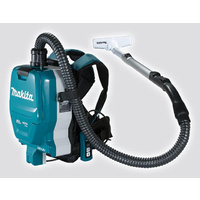 Makita 18Vx2 (36V) LXT Brushless Backpack Vacuum 32mm Hose & Telescopic Pipe With (6.0Ah x 2) Kit