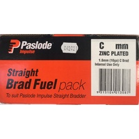 Paslode Impulse C Straight Brad 60mm with Gas Zinc Plated B20631H 2000 Pack